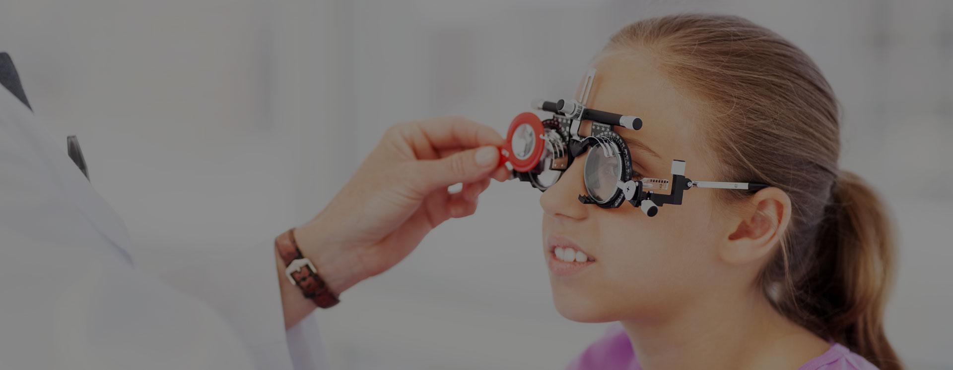 Eye Exam Young Girl