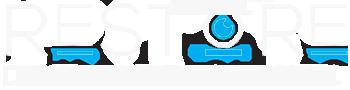 restore clinic logo white